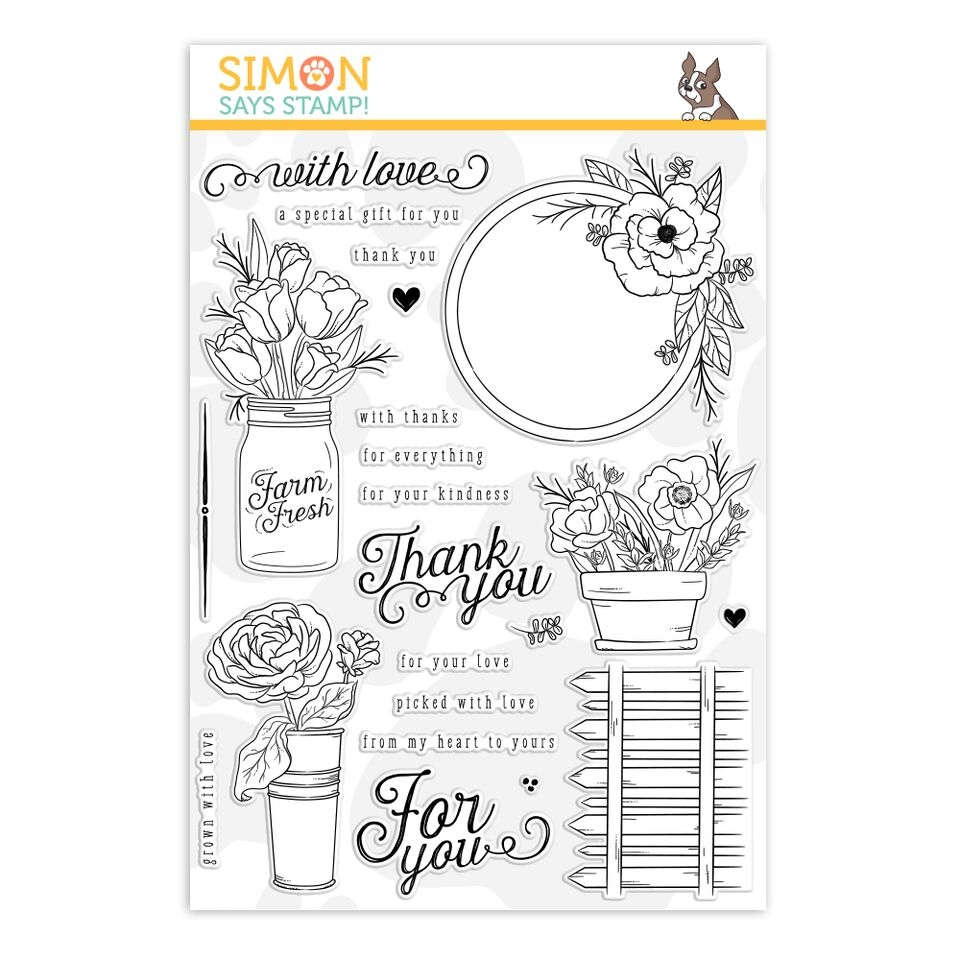 Simon's Exclusive Mandy's Flowers Clear Stamp Set