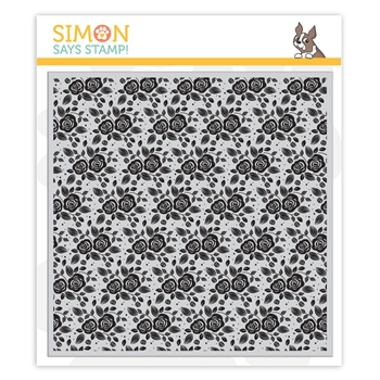 Simon Says Cling Rubber Stamp MODERN ROSE BLOOMS Background sss101912