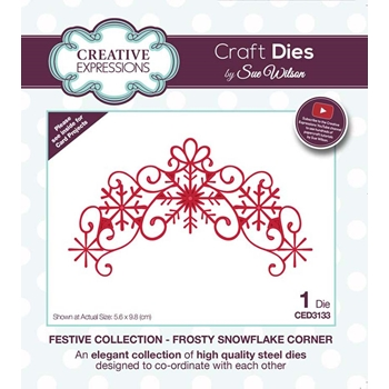 Creative Expressions FROSTY SNOWFLAKE CORNER Sue Wilson Festive Collection Die ced3133