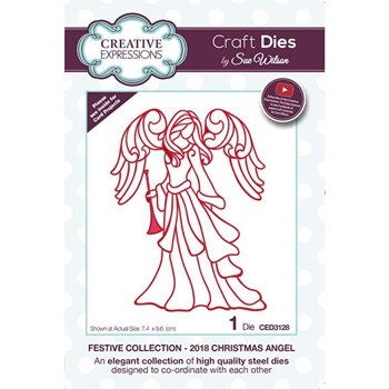Creative Expressions 2018 CHRISTMAS ANGEL Sue Wilson Festive Collection Die ced3128