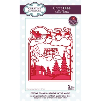 Creative Expressions BELIEVE IN THE MAGIC Sue Wilson Festive Frames Collection Die ced3144
