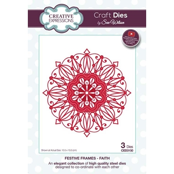 Creative Expressions FAITH Sue Wilson Festive Frames Collection Die ced3150