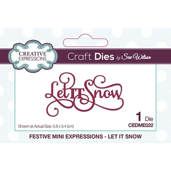 Creative Expressions LET IT SNOW Sue Wilson Festive Mini Expressions Die cedme022