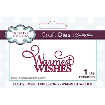 Creative Expressions WARMEST WISHES Sue Wilson Festive Mini Expressions Die cedme018