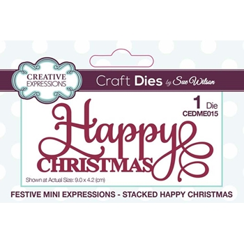 Creative Expressions STACKED HAPPY CHRISTMAS Sue Wilson Festive Mini Expressions Die cedme015