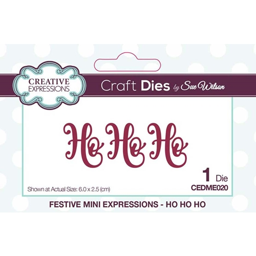 Creative Expressions HO HO HO Sue Wilson Festive Mini Expressions Die cedme020 Preview Image