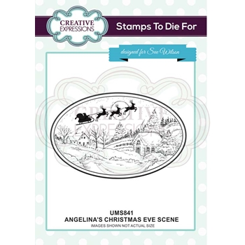 Creative Expressions ANGELINA'S CHRISTMAS EVE SCENE Sue Wilson Cling Stamp ums841