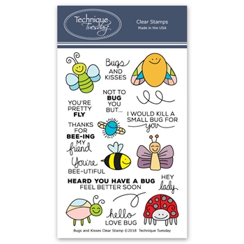 Technique Tuesday BUGS AND KISSES Clear Stamps 2674