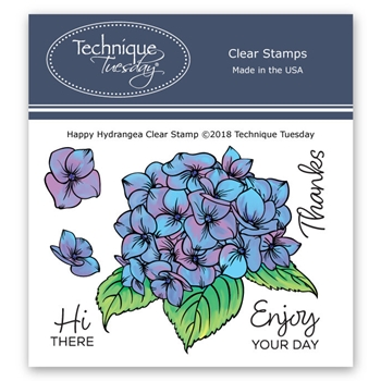 Technique Tuesday HAPPY HYDRANGEA Clear Stamps 2685