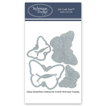 Technique Tuesday CLASSY BUTTERFLIES Crafting DIY Steel Dies 2684