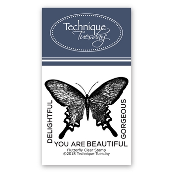 Technique Tuesday FLUTTERFLY Clear Stamps 2236