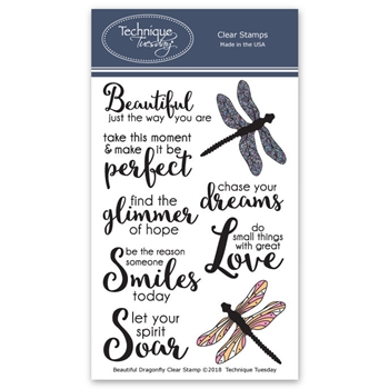 Technique Tuesday BEAUTIFUL DRAGONFLIES Clear Stamps 2683