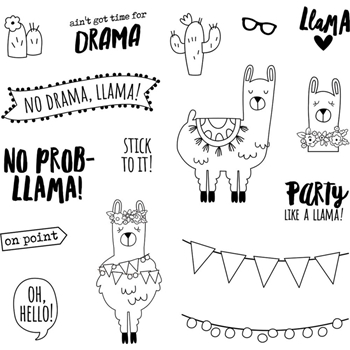 Simple Stories NO PROB-LLAMA Clear Stamp Set 10434