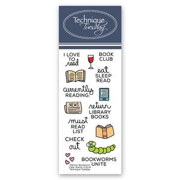 Technique Tuesday PLANNER BOOKWORM Clear Stamps 2699