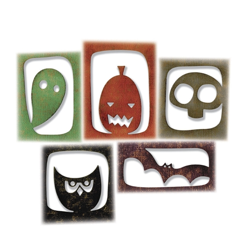 Tim Holtz Sizzix HALLOWEEN HANGOUTS Thinlits Die Set 663088 Preview Image