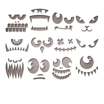 RESERVE Tim Holtz Sizzix FRIGHTENING FACES Thinlits Die Set 663090