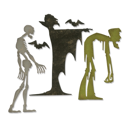 Tim Holtz Sizzix GHOULISH Thinlits Die Set 663091 Preview Image