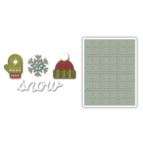 Tim Holtz Winter Side Order Die and Embossing Folder