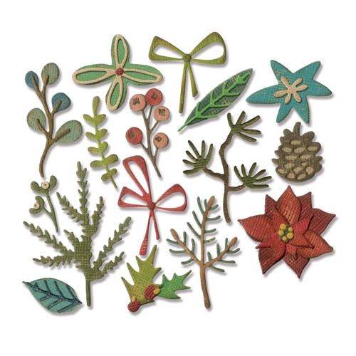Tim Holtz Sizzix FUNKY FESTIVE Thinlits Die 663101 Preview Image