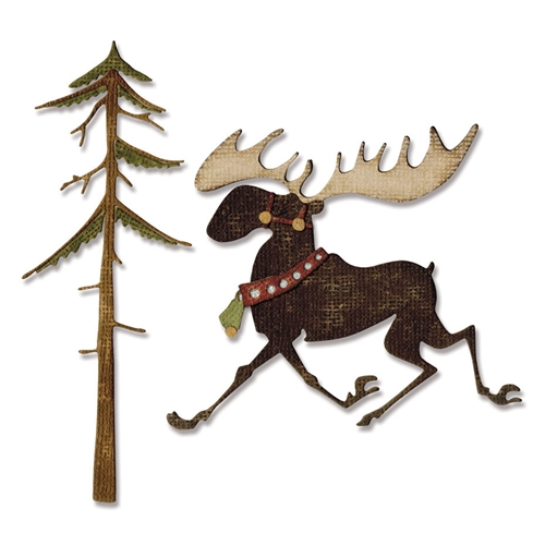 Tim Holtz Merry Moose Die Set