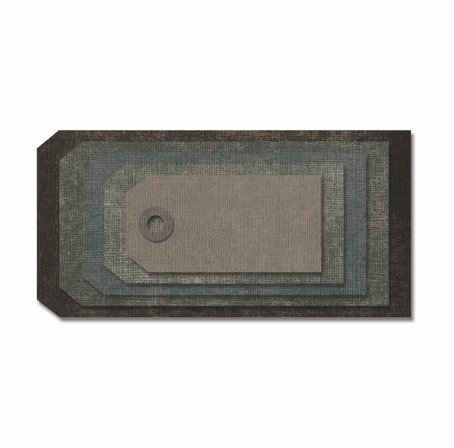 Tim Holtz Sizzix STACKED TAGS Thinlits Die 663118 zoom image