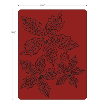 Tim Holtz Sizzix TATTERED POINSETTIA Texture Fades Embossing Folder 662198