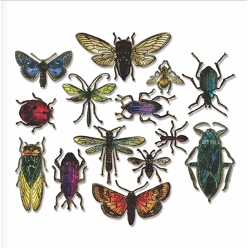 Tim Holtz Sizzix Framelits ENTOMOLOGY Wafer Thin Die Set 663068