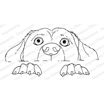 Impression Obsession Cling Stamp PEEKING PUPPY 3202-MD