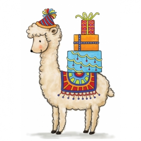 Wild Rose Studio BIRTHDAY LLAMA Clear Stamps CL518 Preview Image