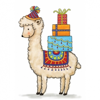 Wild Rose Studio BIRTHDAY LLAMA Clear Stamps CL518