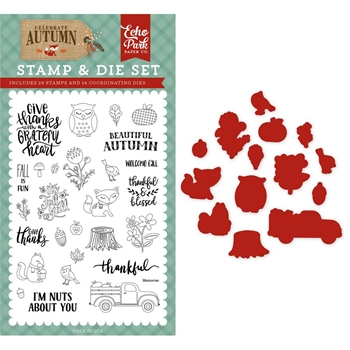 Echo Park NUTS ABOUT YOU Die & Stamp Set cau158043