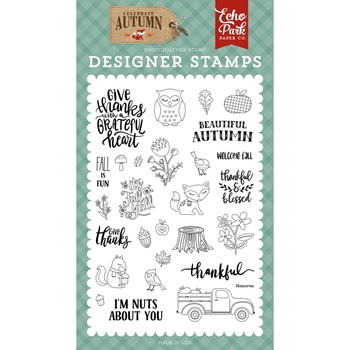 Echo Park NUTS ABOUT YOU Clear Stamps cau158044