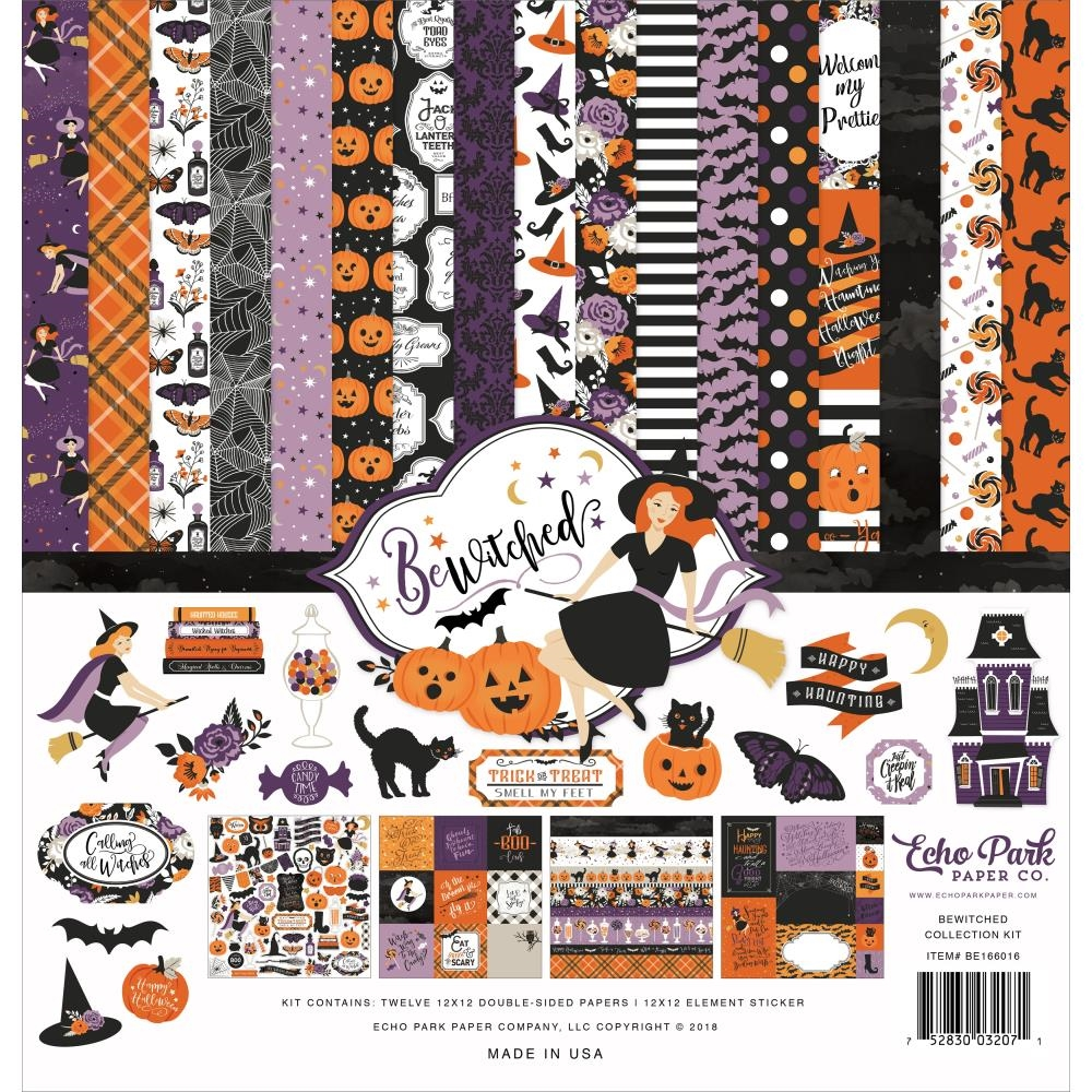 Echo Park BEWITCHED 12 x 12 Collection Kit be166016 zoom image