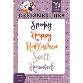 Echo Park HAUNTED HALLOWEEN WORD Die Set be166042