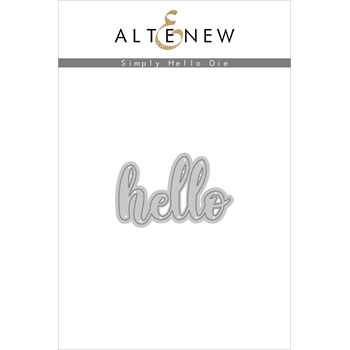 Altenew SIMPLY SAID HELLO Die ALT2435