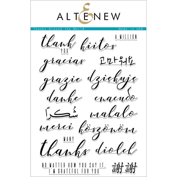 Altenew THANKS AROUND THE WORLD Clear Stamps ALT2429