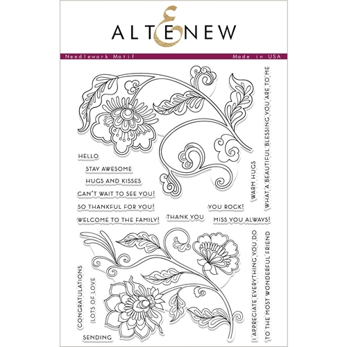Altenew NEEDLEWORK MOTIF Clear Stamps ALT2427 Preview Image