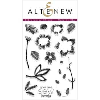 Altenew EMBROIDERED BLOOMS Clear Stamps ALT2416