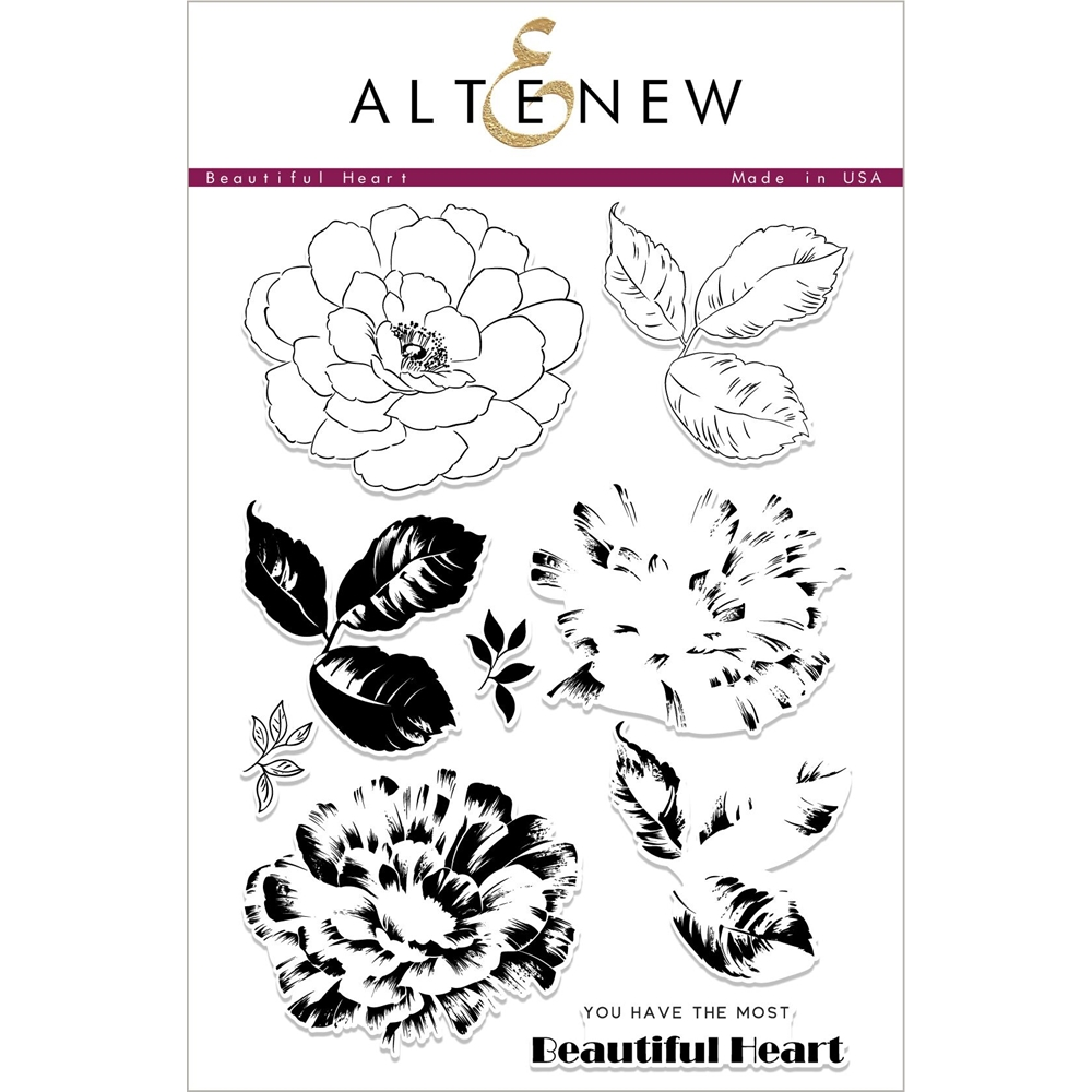 Altenew BEAUTIFUL HEART Clear Stamps ALT2414 zoom image