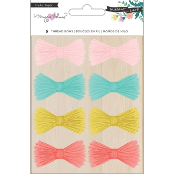 Crate Paper WILLOW LANE Adhesive Thread Bows 344470