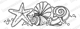 Impression Obsession Cling Stamp SHELLFISH D19783