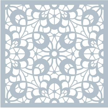 Gina K Designs LOVELY LACE Stencil 3436