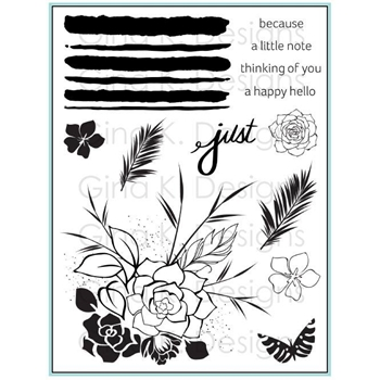Gina K Designs JUST A LITTLE Clear Stamps 3528