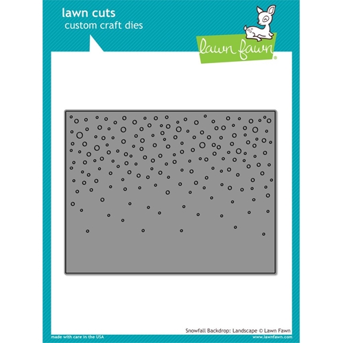 Lawn Fawn LANDSCAPE SNOWFALL BACKDROP Die Cut LF1802 Preview Image