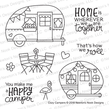 Newton's Nook Designs COZY CAMPERS Clear Stamps NN1807S04
