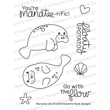 Newton's Nook Designs MANATEE-RIFIC Clear Stamps NN1807S05