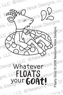 Newton's Nook Designs FLOATY GOAT Clear Stamps NN1807S08