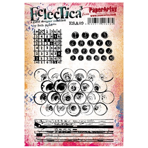 Paper Artsy SETH APTER 09 ECLECTICA3 Cling Stamp esa09 Preview Image