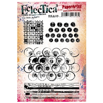 Paper Artsy SETH APTER 09 ECLECTICA3 Cling Stamp esa09