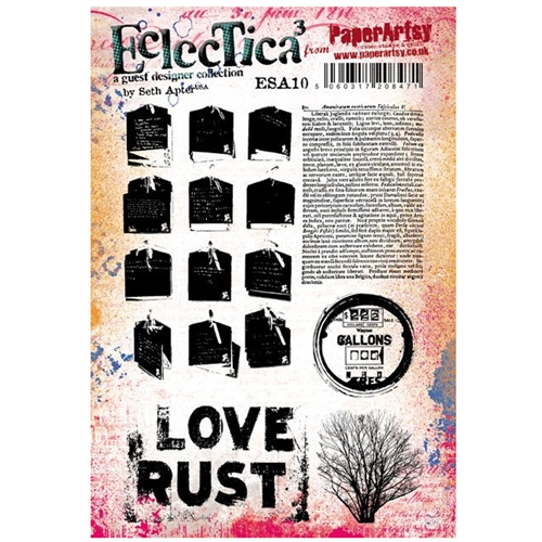Paper Artsy SETH APTER 10 ECLECTICA3 Cling Stamp esa10 Preview Image